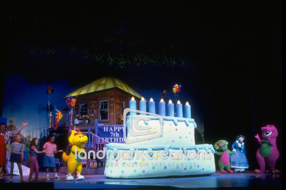 Barneys Inflatable Surprise Cake - Barney live in concert birthday
