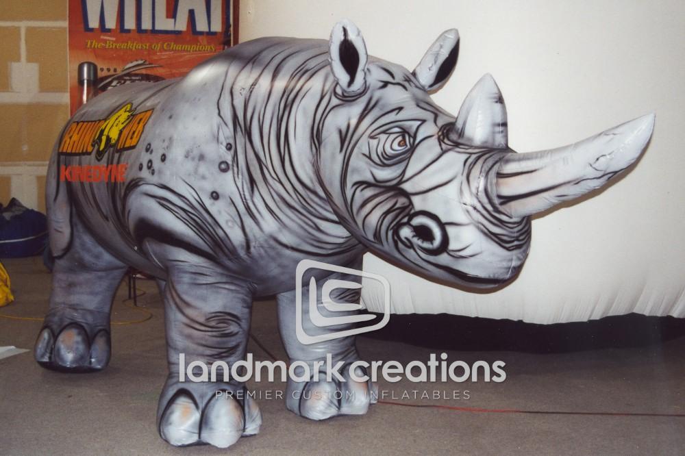 Inflatable Rhinoceros Mascot For Rhino Linings Usa Inc
