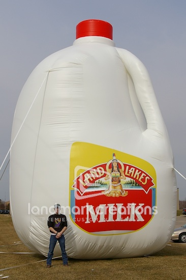 Giant Inflatable Land O Lakes Milk Bottle Replica For