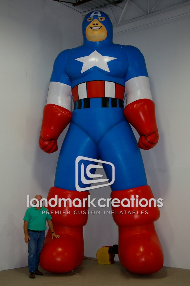 Rent To Own Auto Center >> All Star Auto Group's Capt. A Inflatable Super Hero Mascot