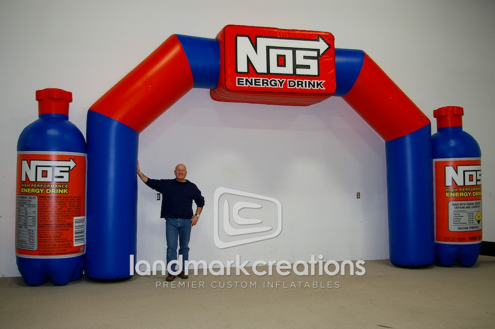 Nos Energy Drink Inflatable Archway And Bottle Replica Display