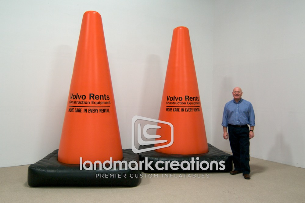 Volvo Rents Giant Inflatable Hard Hat Replica