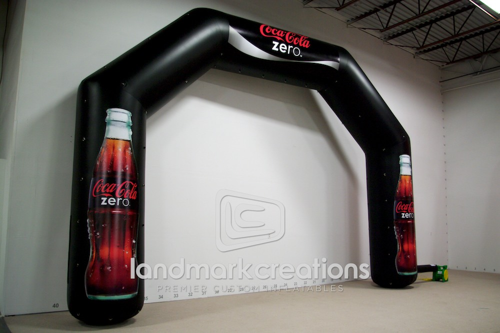 coca cola zero inflatable archway. Black Bedroom Furniture Sets. Home Design Ideas