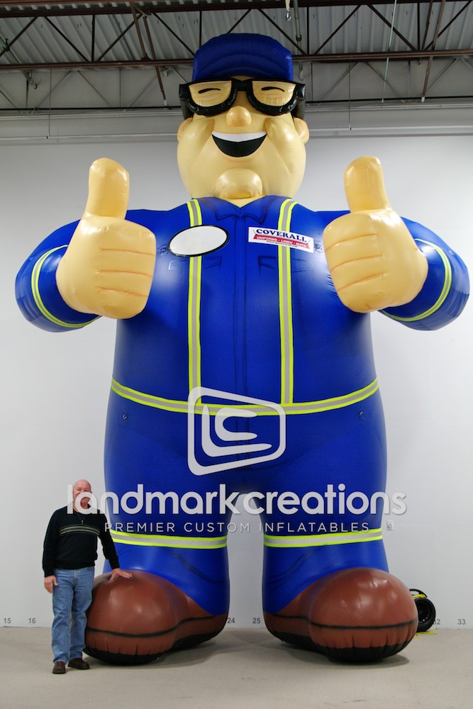 Giant Inflatable Coverall Man Mascot