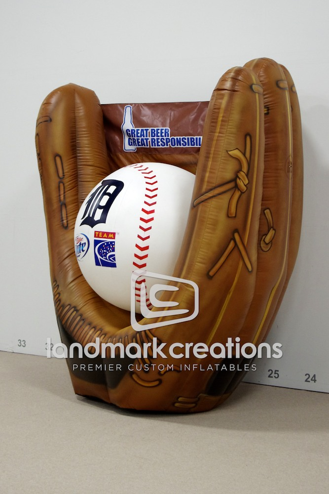 Team Coalition S Inflatable Detroit Tigers Baseball And Glove