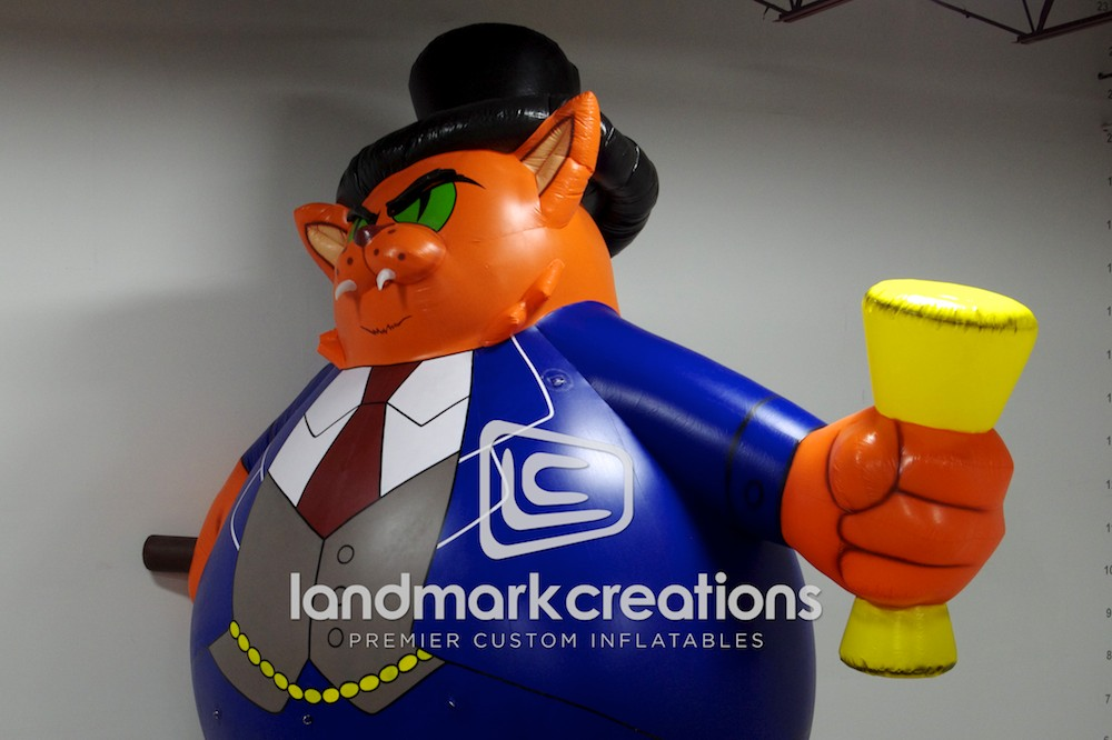 Corporate Fat Cat Inflatable With Cigar And Top Hat