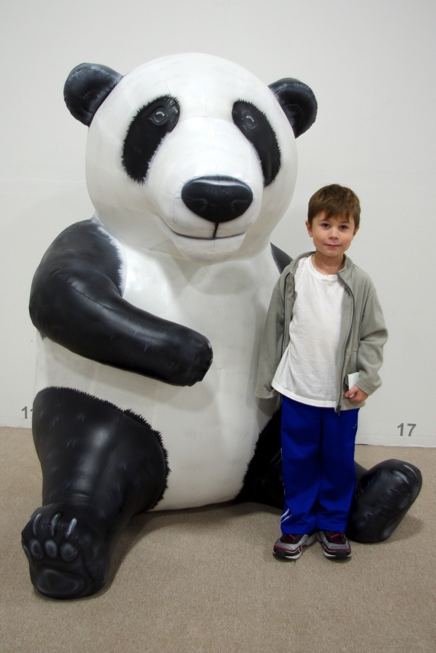 Life Size Inflatable Panda Bear Replica For Delaware