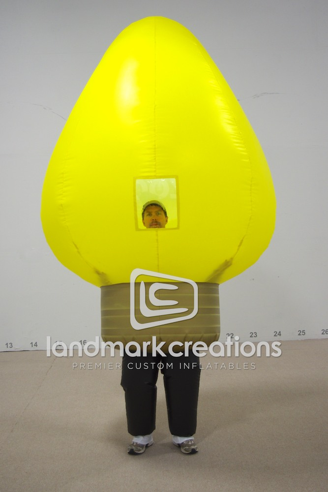Brookfield Zoo Inflatable Christmas Light Bulb Costume - Yellow
