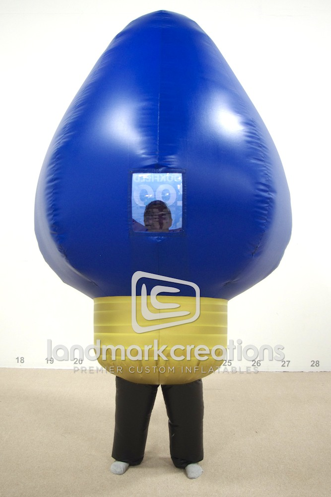 Brookfield Zoo Inflatable Christmas Light Bulb Costume Blue