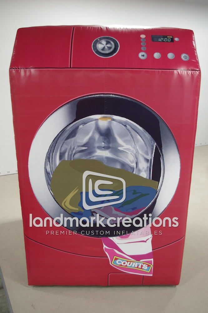 Courts Inflatable Washing Machine Replica