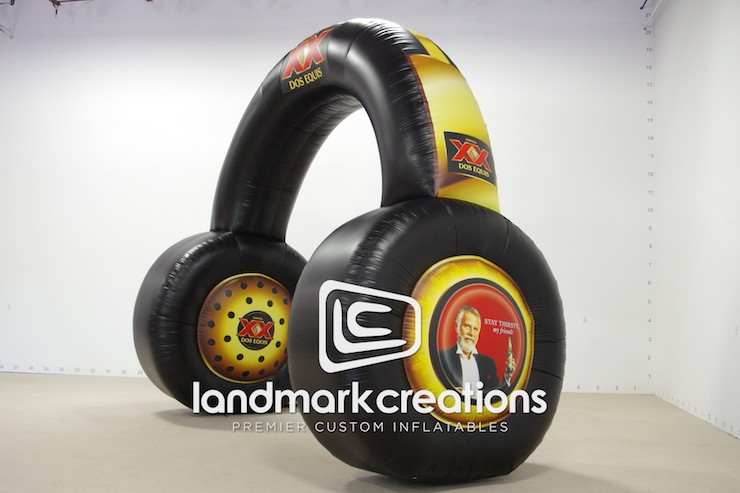 Dos Equis Custom Inflatable Headphones for Summer Promotions