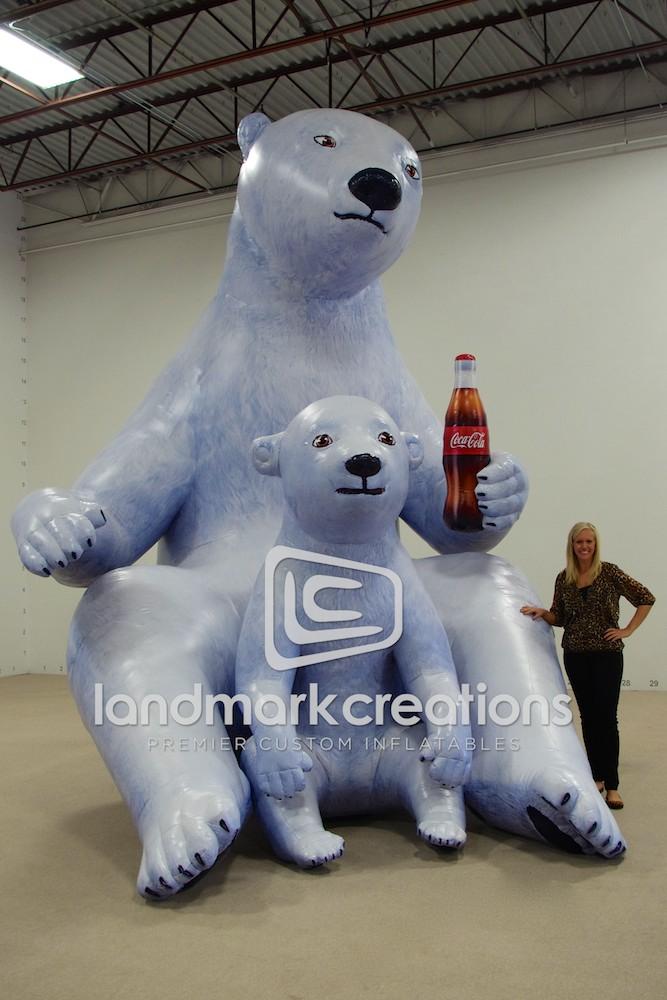 Seaworld Parks Inflatable Coca Cola Polar Bears