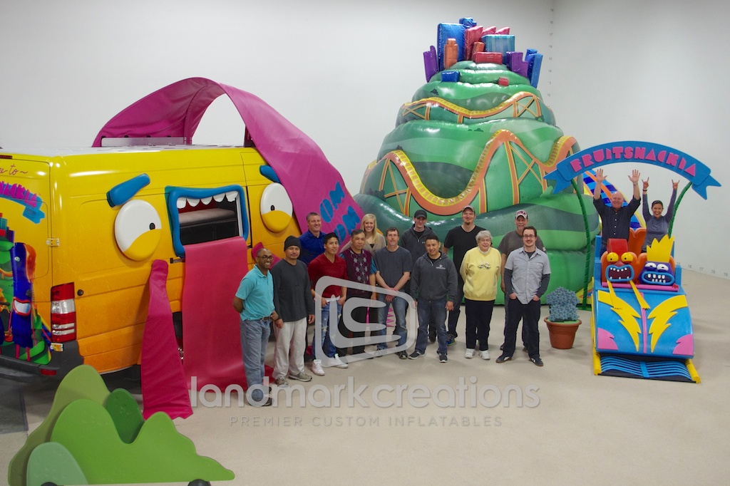 General Mills Inflatable Fruitsnackia Mountain Stage Prop