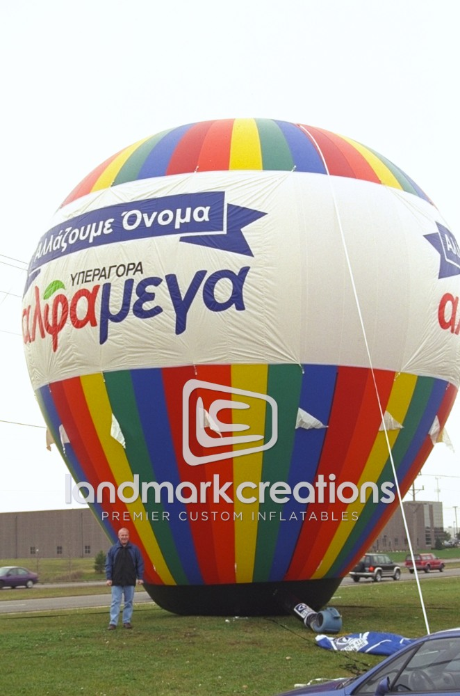 Colorful Hot Air Shape