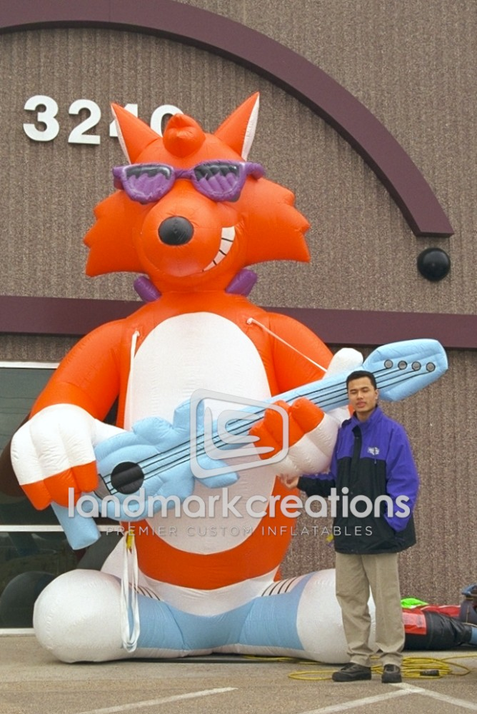 Radio Station Fox Mascot