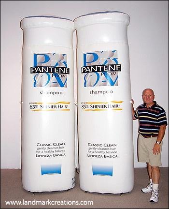 pantene pro v inflatable shampoo bottles