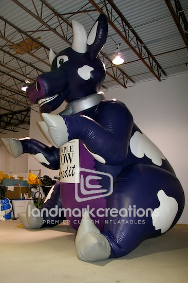 Purple Credit Cow