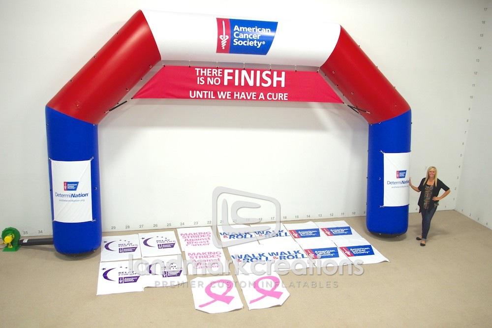 American Cancer Society Inflatable Race Archway Hexiarch