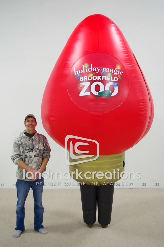 Light Bulb Costume, Red