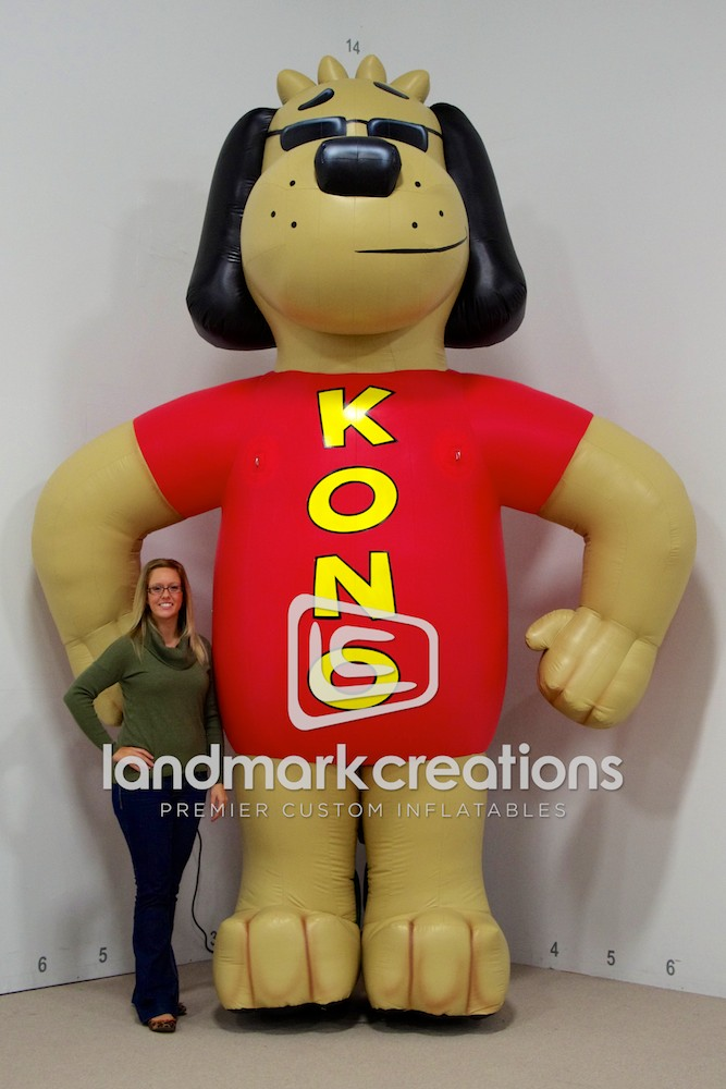 Kono Inflatable Dog Mascot For Radio Station 101 1 Kono Fm