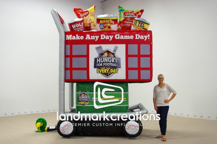 Hungry For Football Grocery Cart