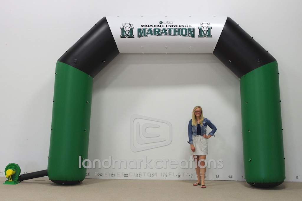 Marshall Marathon Finish Arch