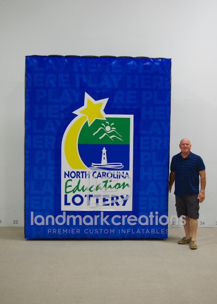 Inflatable North Carolina Education Lottery Logo