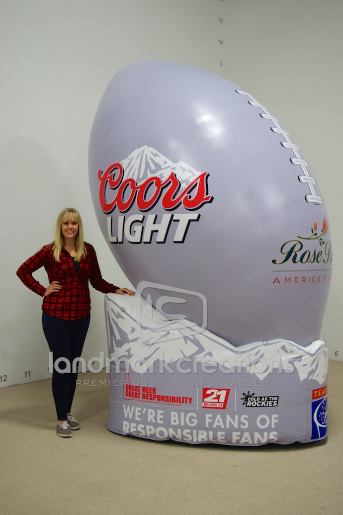 Coors Light Rose Bowl Football Display