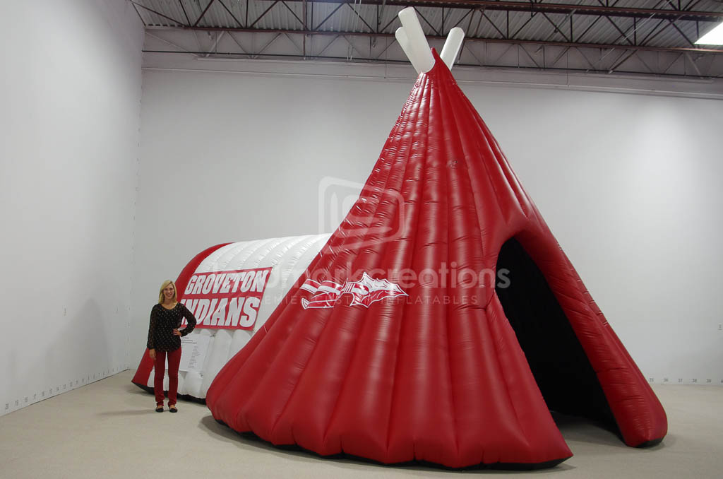 Groveton Indians Teepee Tunnel