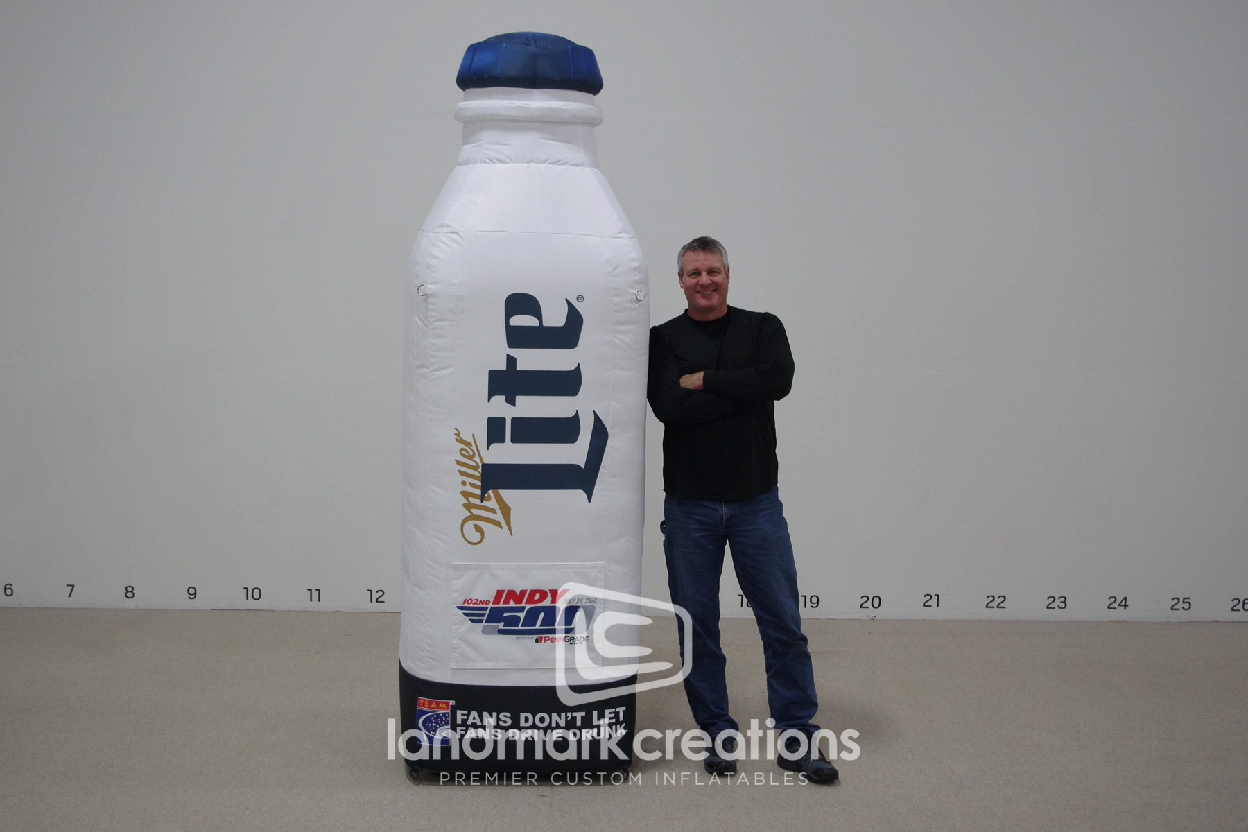 Indy 500 Miller Light Milk Bottle