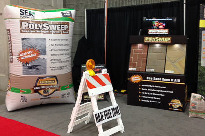 Polysweep Bag trade show display
