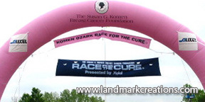 Inflatable Arch at Fundraising Event