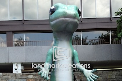 Inflatable GEICO Gecko Mascot
