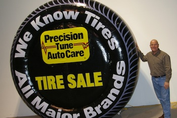 Precision Tune Auto Care Inflatable Advertising Tire