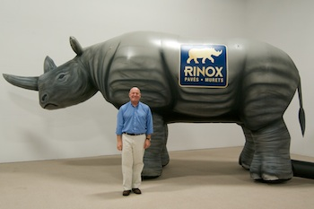 Rinox's Inflatable Rhino