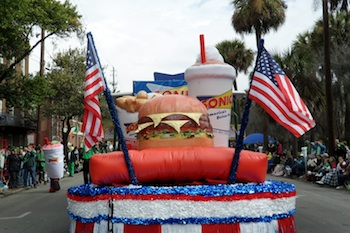 SONIC inflatable Combo Replica on Parade Float