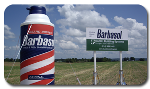 Barbasol Shaving Cream Inflatable Replica at Groundbreaking Event