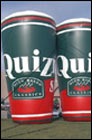Inflatable Quiznos Drinking Cup