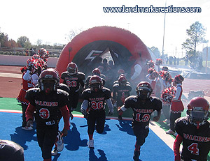 Fort Worth Falcons Inflatable Football Tunnel