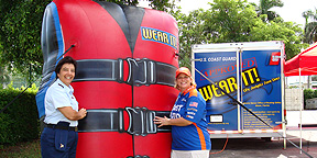 Inflatable Lifejacket at Outdoor Event