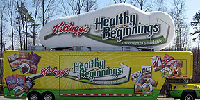 Kellogg's Inflatable Display for Mobile Product Launch Tour