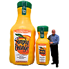 Inflatable Orange Juice Bottles