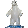 Inflatable Polar Bear for Cause Marketing