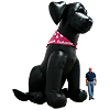 Inflatable Black Lab