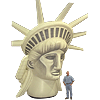 Inflatable Statue of Liberty Head