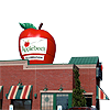 Applebee's Inflatable Logo on Restaurant Rooftop