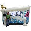 Inflatable Mr. Bubble Tub Display