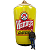 Inflatable Wendy's Frosty Replica