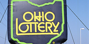 Inflatable Logo for Ohio Lottery