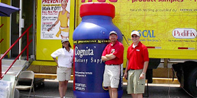 Inflatable Cognita Bottle at Outdoor Marketing Tour